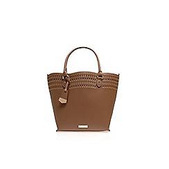 Carvela - Taupe 'Fiona' studded shopper handbag