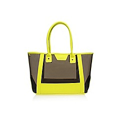 Carvela - Yellow 'Freya perspex' large bag