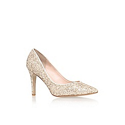 Miss KG - Gold 'Irena' high heel court shoe