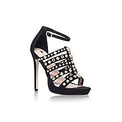 Carvela - Black 'Glad' high heel strappy embellished sandals