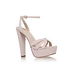 Carvela - Nude 'Gemma' high heel platform sandal