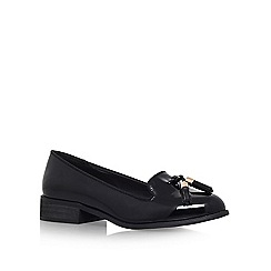 Miss KG - Black 'Knight' flat slip on loafer