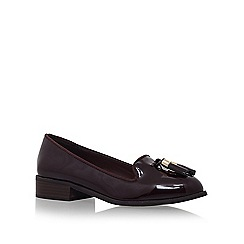 Miss KG - Wine 'Knight' low heel slip on loafer shoe