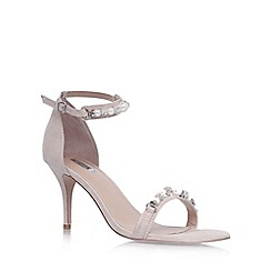 Carvela - Nude 'Gel' high heel embellished sandal