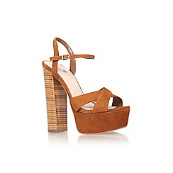 Carvela - Tan 'Gerry' high block heel sandal