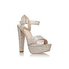 Carvela - Silver 'Glitter' high heel platform sandals