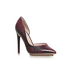 KG Kurt Geiger - Red/dark 'Envy' high heel court shoe