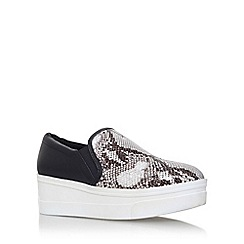 KG Kurt Geiger - Black 'Lizard' flat slip on sneaker