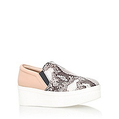 KG Kurt Geiger - Beige 'Lizard' flat slip on casual shoe