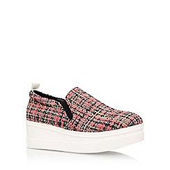 KG Kurt Geiger - Pink 'lizard' high heel slip on sneakers