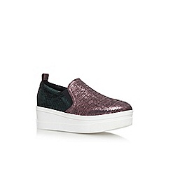 KG Kurt Geiger - Green 'Lizard' flat slip on sneakers