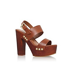 Miss KG - Tan 'Gogo' high block heel platform sandal