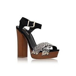 Miss KG - Black 'Gabby' high block heel platform sandal