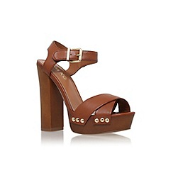 Miss KG - Tan 'Gabby' high block heel platform sandal