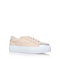 Miss KG - Natural 'Loco' flat lace up sneakers