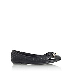 Miss KG - Black 'Maye' flat slip on ballerina pump