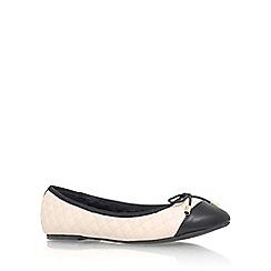 Miss KG - Beige 'Maye' flat slip on ballerina pump