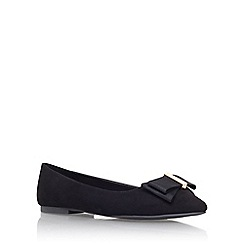 Miss KG - Black 'Nessy' flat slip on court shoe
