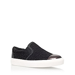 KG Kurt Geiger - Black 'Lyon' flat slip on sneakers