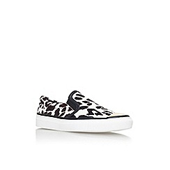KG Kurt Geiger - Black and white 'Lyon' flat slip on casual shoe