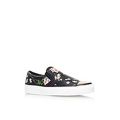 KG Kurt Geiger - Black/comb 'Lyon' flat printed slip on casual shoe