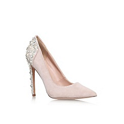 KG Kurt Geiger - Nude high heel embellished court shoe