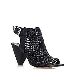 Vince Camuto - Black 'Emilia' high heel peep toe shoe boot