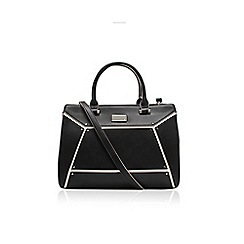 Nine West - Bllack and white 'Nailed it' satchel handbag