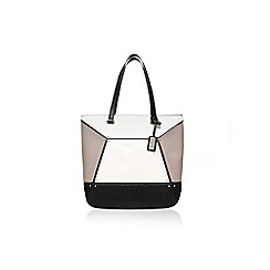 Nine West - White/ Black 'Nailed it' tote handbag