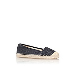 Nine West - Black 'Big apple 3' flat slip on espadrille