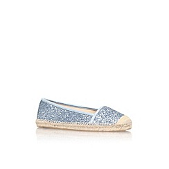 Nine West - Blue 'Big apple 3' flat slip on espadrille