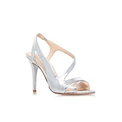 Nine West - Silver 'Delvin3' high heel strappy sandals