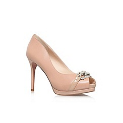 Nine West - Nude 'Finoula' high heel peep toe shoe