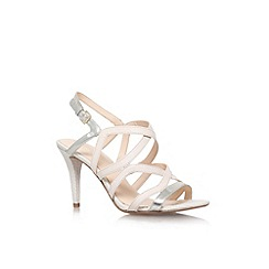 Nine West - White 'Intern' high heel strappy sandal