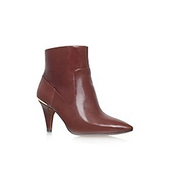 Nine West - Brown 'Jessepia' high heel pointed toe ankle boot