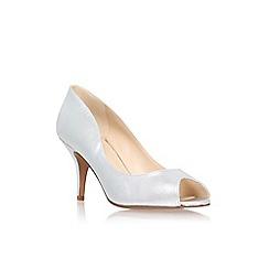 Nine West - Silver 'Orissa20' mid heel peep toe court shoes