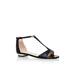 Nine West - Black 'Ukie' flat t-bar sandal