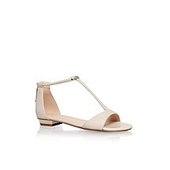 Nine West - White 'Ukie' flat t-bar sandal