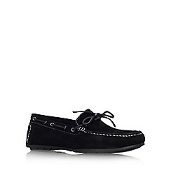 KG Kurt Geiger - Black 'Lewis' flat slip on loafer