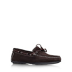 KG Kurt Geiger - Brown 'Lewis' flat slip on loafer