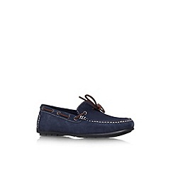 KG Kurt Geiger - Navy 'Lewis' flat slip on loafer