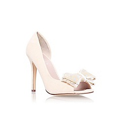 Carvela - Nude 'Leoni' high heel peep toe court shoe
