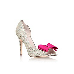 Carvela - Metal 'Leoni' high heel peep toe court shoe