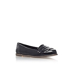 Carvela - Black 'Magnus' flat slip on loafer