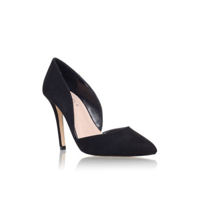 carvela black high heel court shoe debenhams