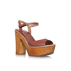 KG Kurt Geiger - Tan 'Maple' high heel platform sandals