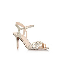 Nine West - Gold 'Gardenia2' high heel strappy sandal