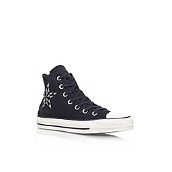 Converse - Black 'Ct bars hi' flat lace up hi top trainer