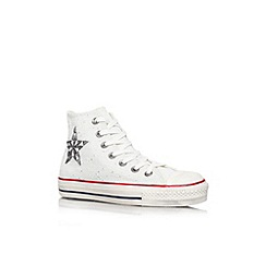Converse - White 'Ct bars hi' flat lace up hi top sneaker