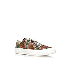 Converse - Multicoloured 'Ct basket low' flat lace up low top trainer
